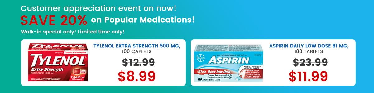 Buy Tylenol & Aspirin - Brampton & Mississauga
